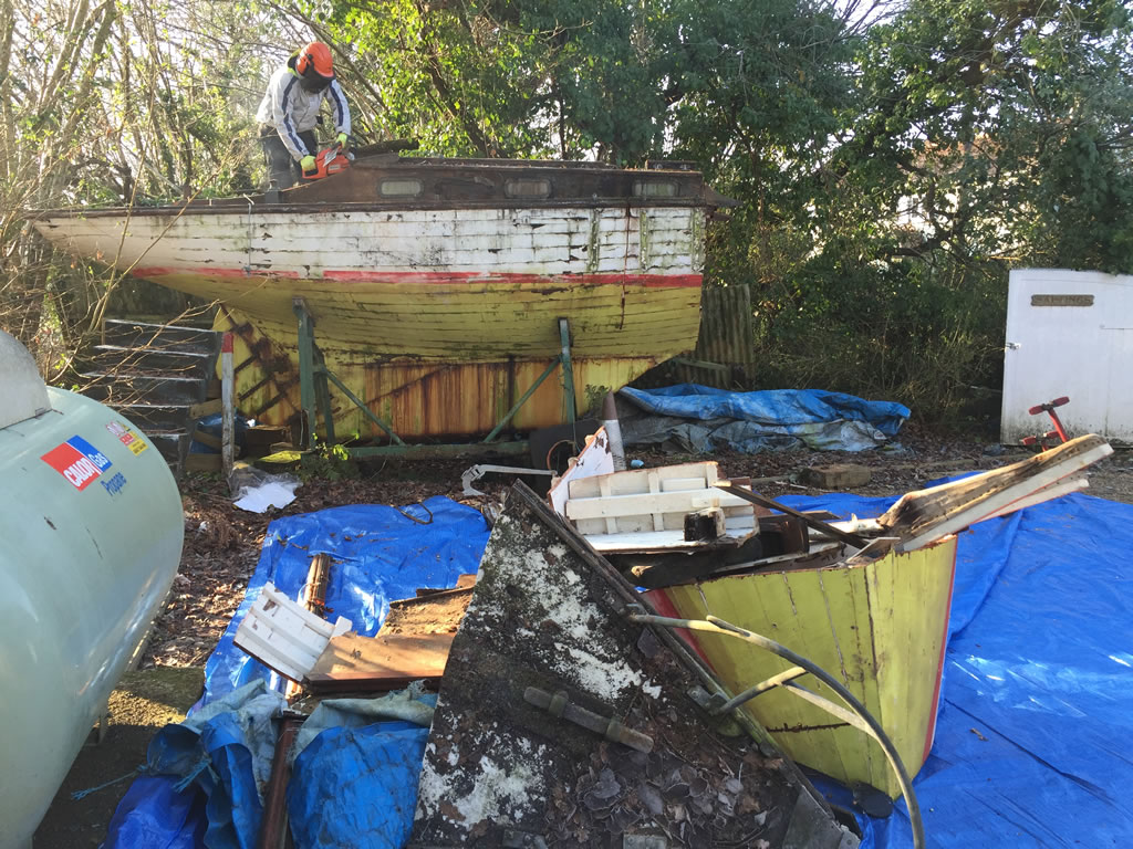 Boatbreakers News - First of 2016: Wooden Yacht Scrap (January)