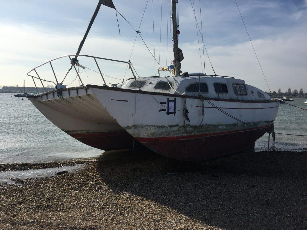 Boatbreakers News - Abandoned Boat on Eastney Beach