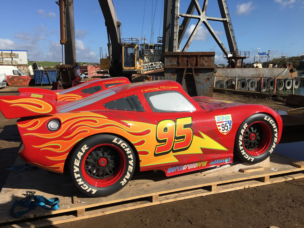 Walt Disney Magic at the Boatbreakers Yard - Lightning McQueen Cars in for scrap