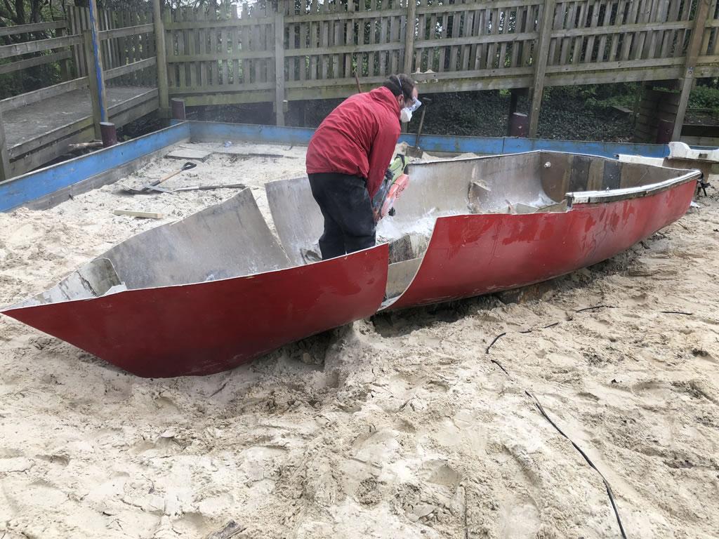 Yacht in a Sandpit Scrap London