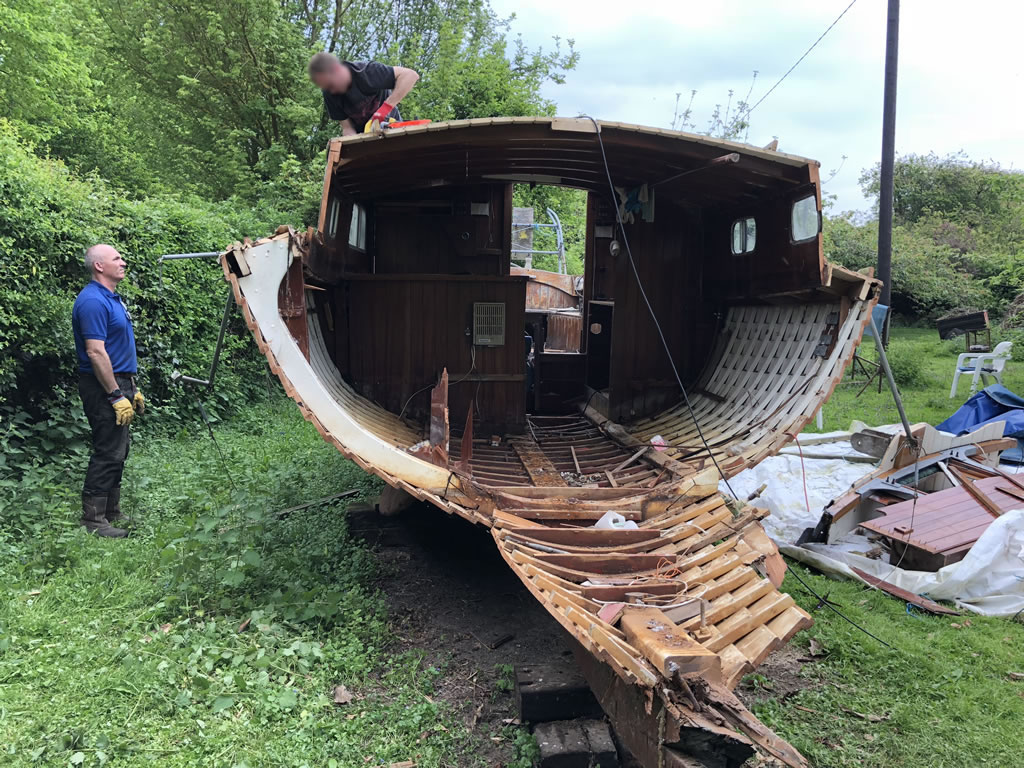 The Only Way is Essex: Scrap Yacht in an Orchard