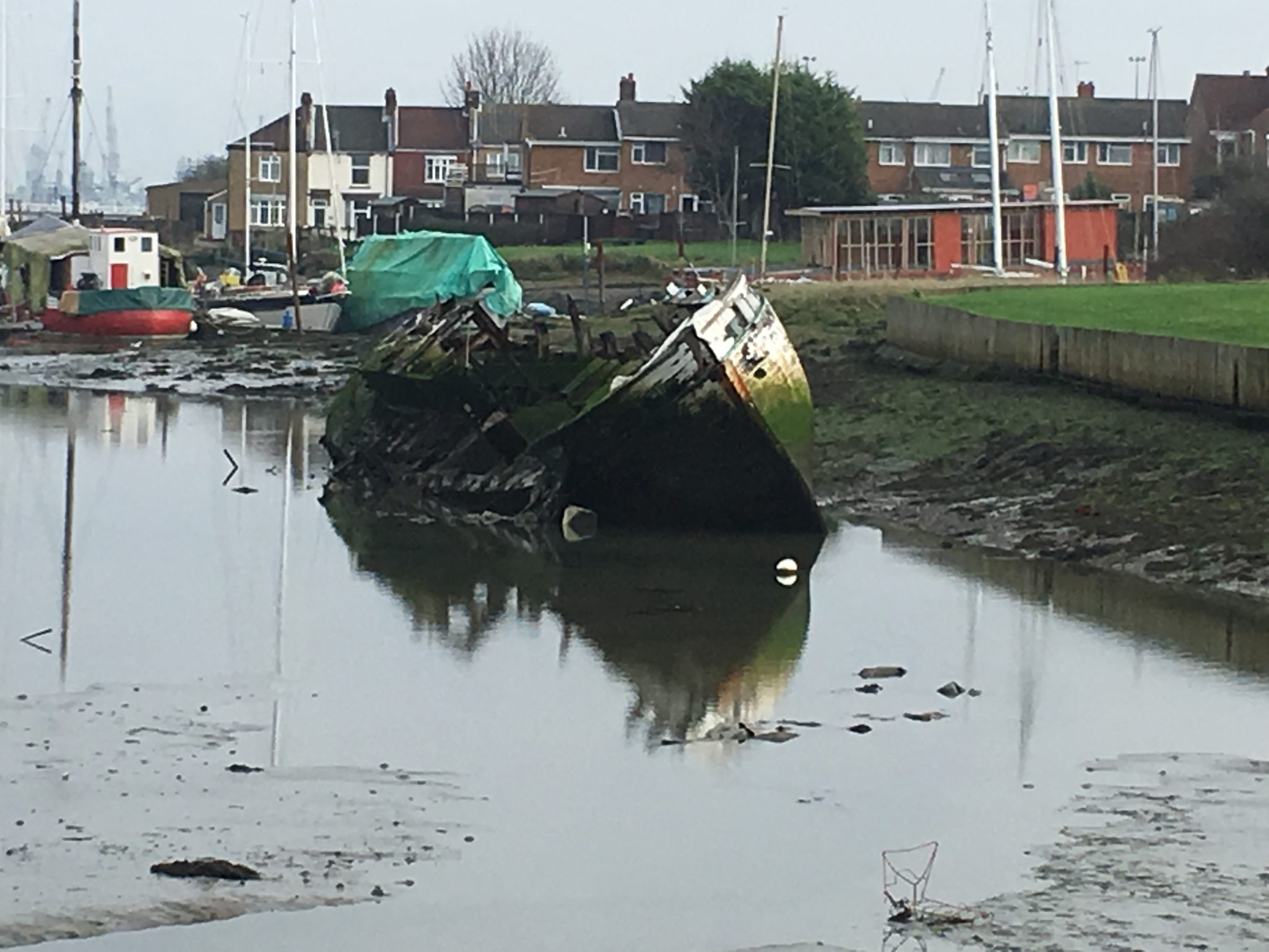 Dumped Boats In A Gosport Marina
