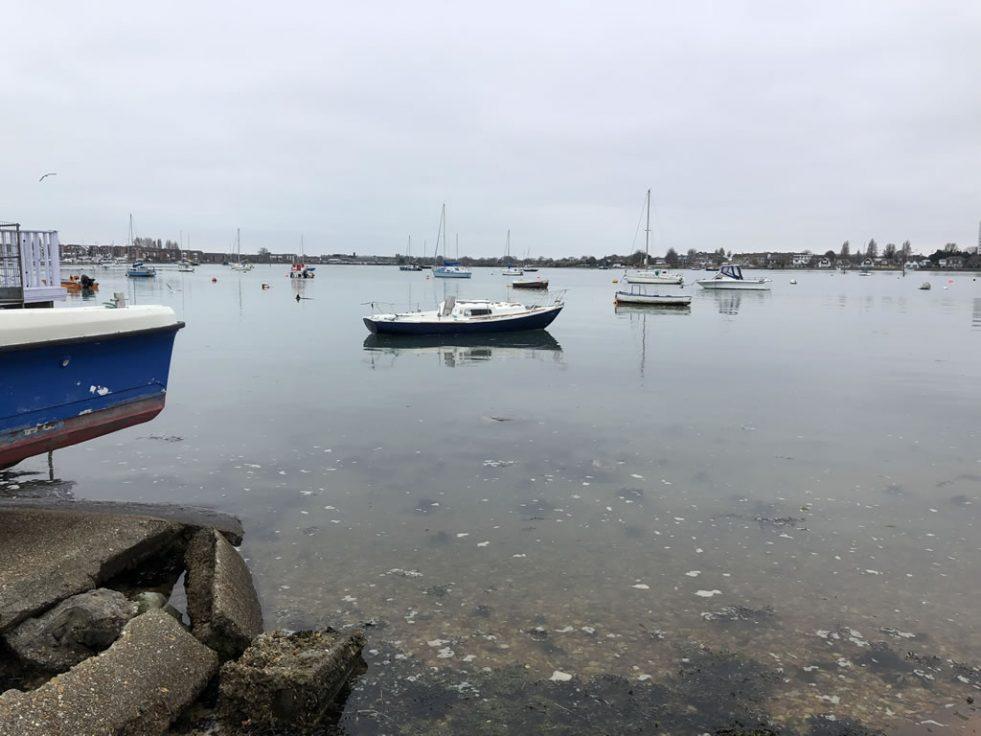 Eastney Beach Abandoned Yacht