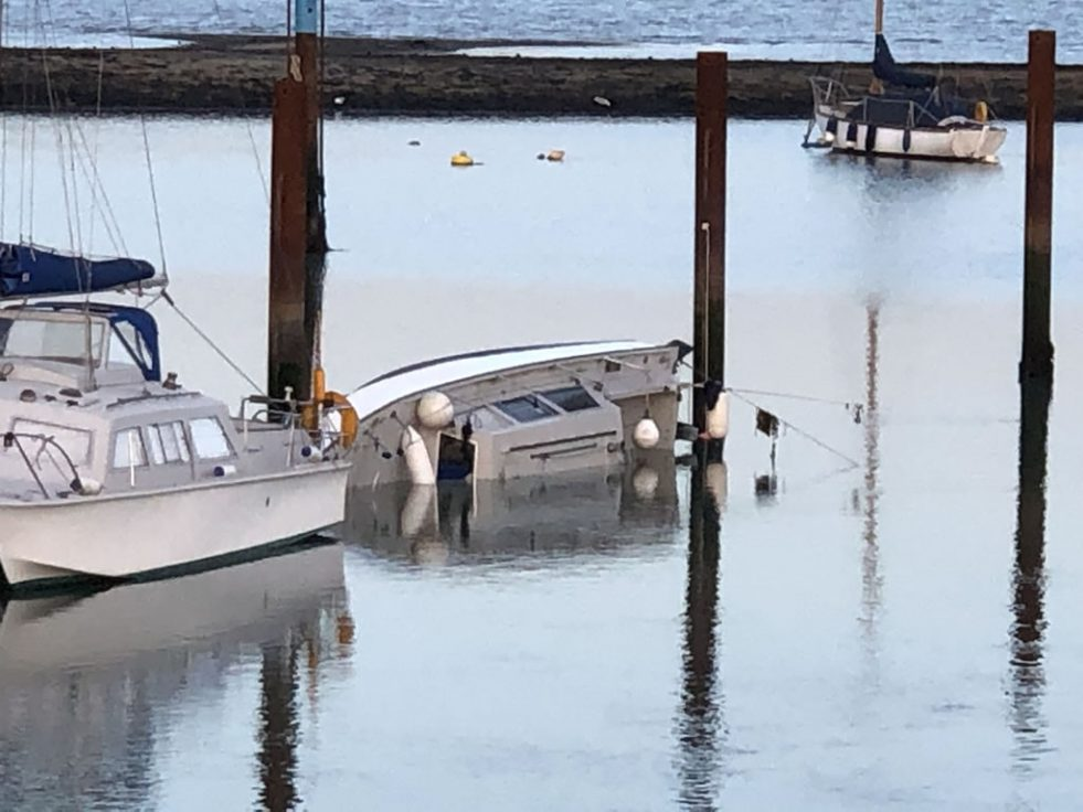 Sunken Catamaran in Gosport