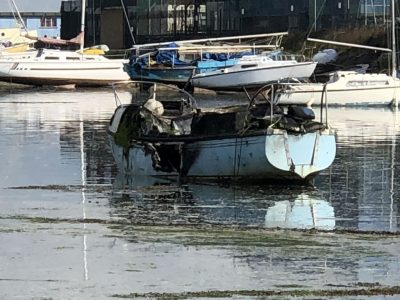 Abandoned Yacht Collection Saga - Yacht after the fire