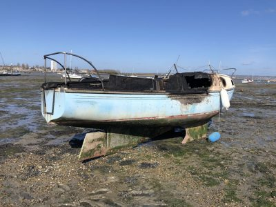 Abandoned Yacht Collection Saga - Burnt Yacht