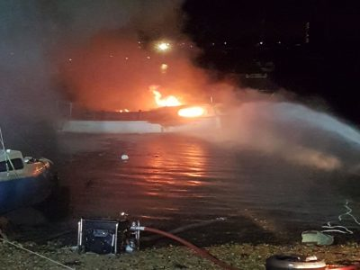 Abandoned Yacht Collection Saga - Boat on Fire