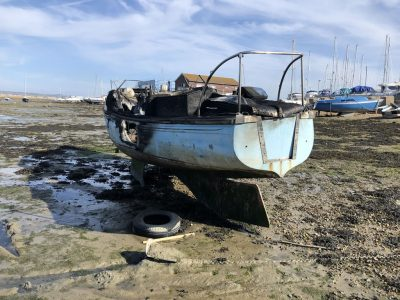 Abandoned Yacht Collection Saga - Burnt out yacht