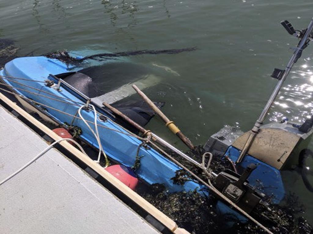Sunken Boat Disposal - A Sunken Dinghy