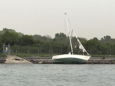 Boat Dispoal - Storm Damaged Yacht