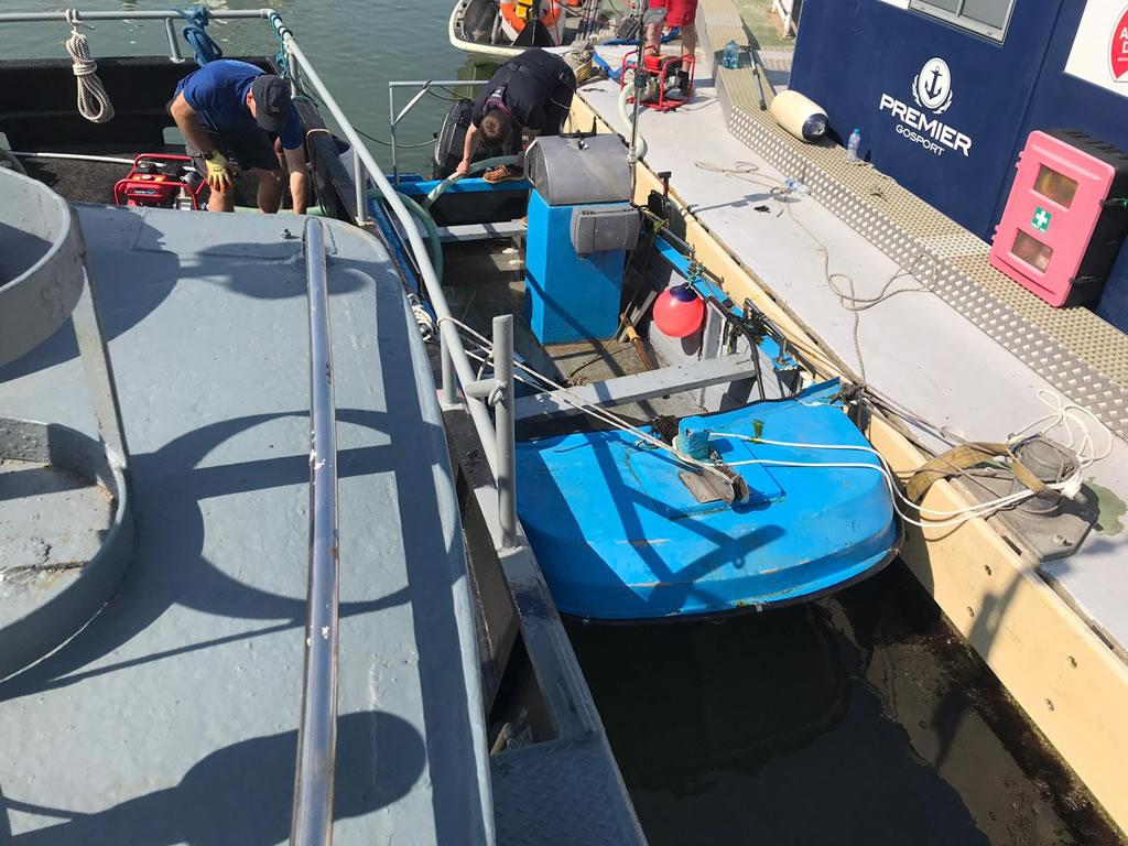 Sunken Boat - Sunken Dinghy Refloated