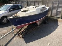 yacht in a car park - Small Yacht collected from a car park in Lymington.
