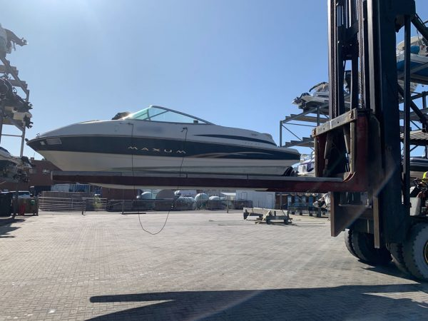 Latest August Boats 2019 - Maxum SC1900 - On the Boat Lift