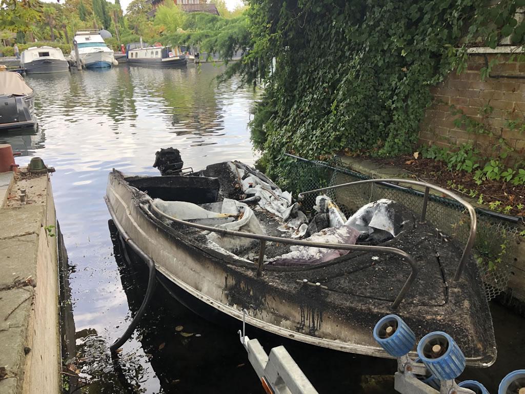Burnt Speedboat Collection London
