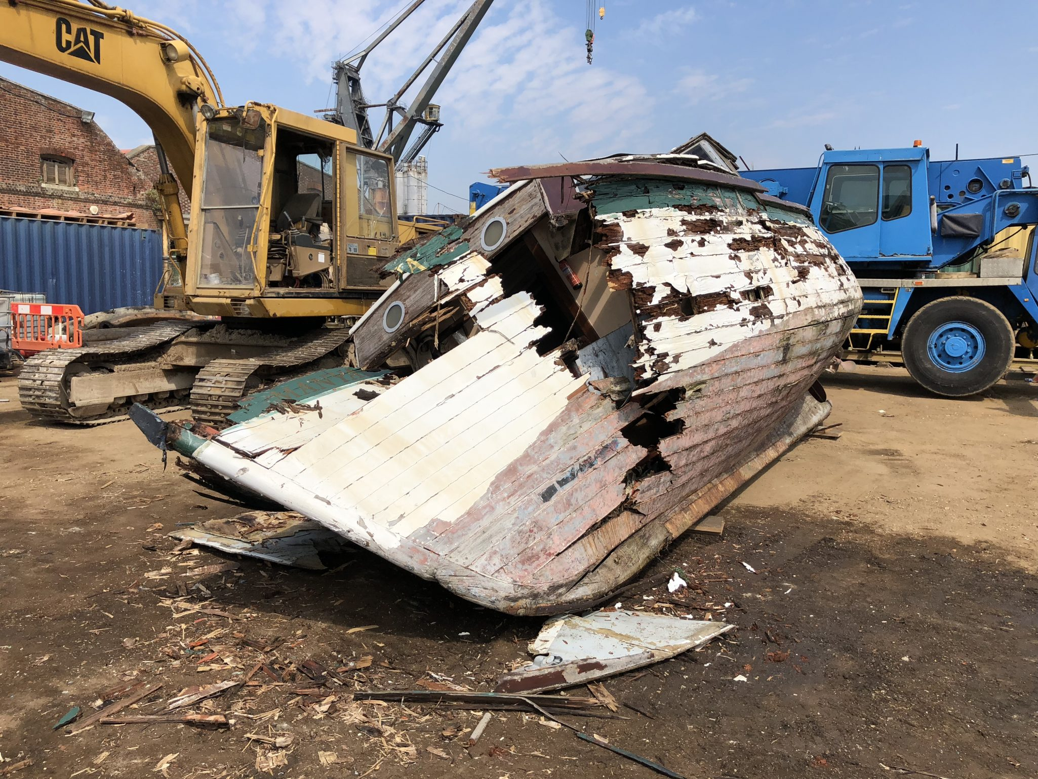 Free No Obligation Scrap Quotation - Rotten Wooden Boat for Recycling