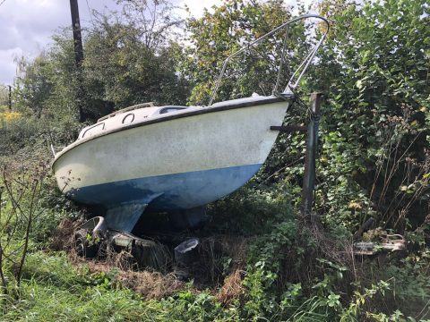 Recycle a Yacht - Yacht in a Field