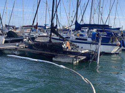 Fire Damaged Burnt Yacht