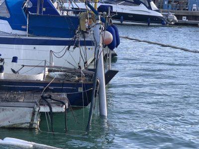 Sunken Yacht Mast