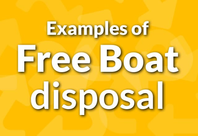 Examples of Free Boat Disposal From Boatbreakers