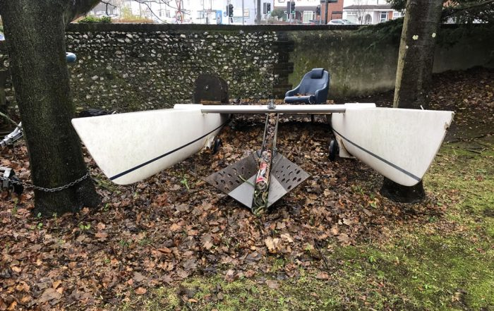 Catamaran Chop: Dart 18 Disposal in Portchester - Before