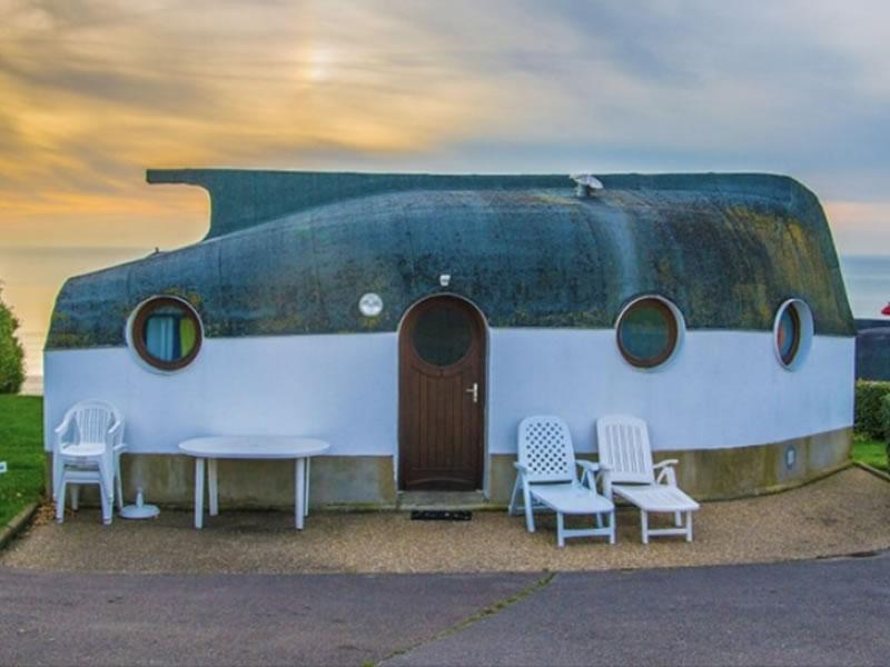 Recycled Boat Hull Huts