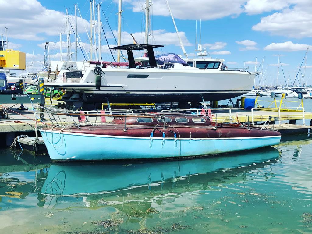 atlanta 26 classic yacht in for scrap