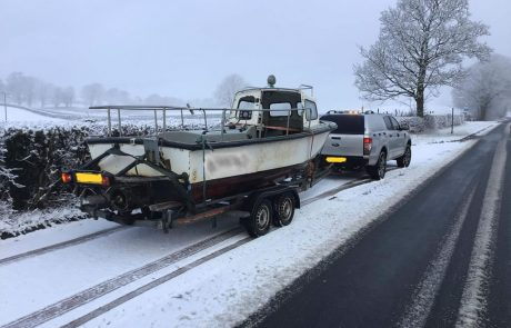 fishing boat insurance write off - on the snowy roads