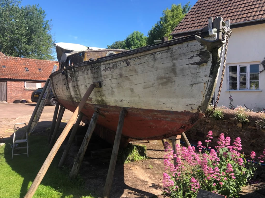 Boatbreakers Devon Wooden Yacht Disposal - another side view