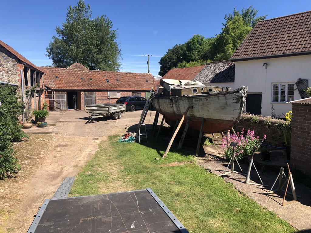 Boatbreakers Devon Wooden Yacht Disposal - courtyard