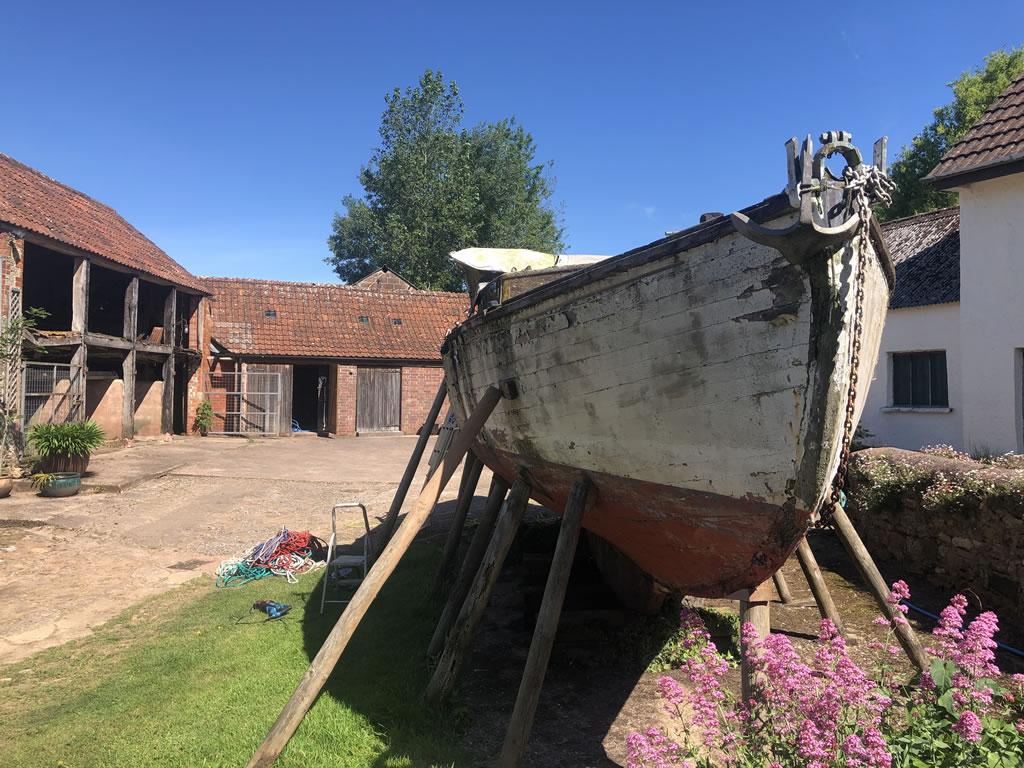 Boatbreakers Devon Wooden Yacht Disposal - front